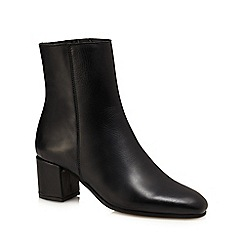 J by Jasper Conran - Black leather 'Janey' mid ankle boots