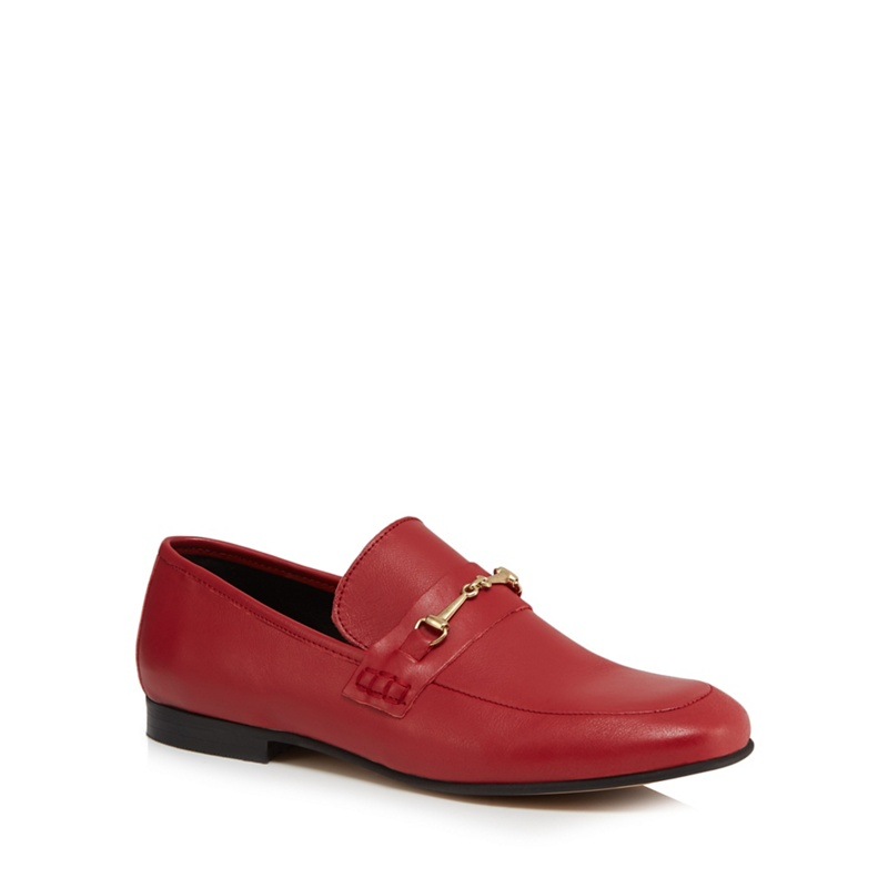 J by Jasper Conran Red leather 'Janet' loafers