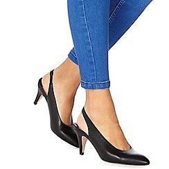 Faith - Black 'Clarissa' mid heel slingbacks