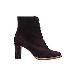 Clarks - Wine 'Ellis Agnes' ankle strap sandals