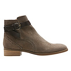 Clarks - Taupe 'Netley Olivia' ankle boots