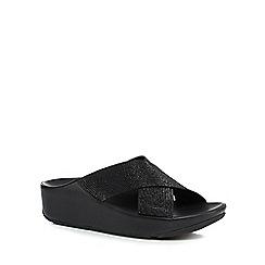 FitFlop - Black glitter embellished sandals