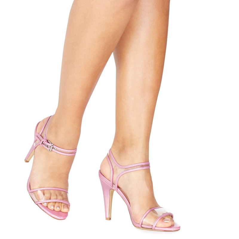 bd6acb986f9 Faith - Purple  Diddy  High Stiletto Heel Ankle Strap Sandals ...