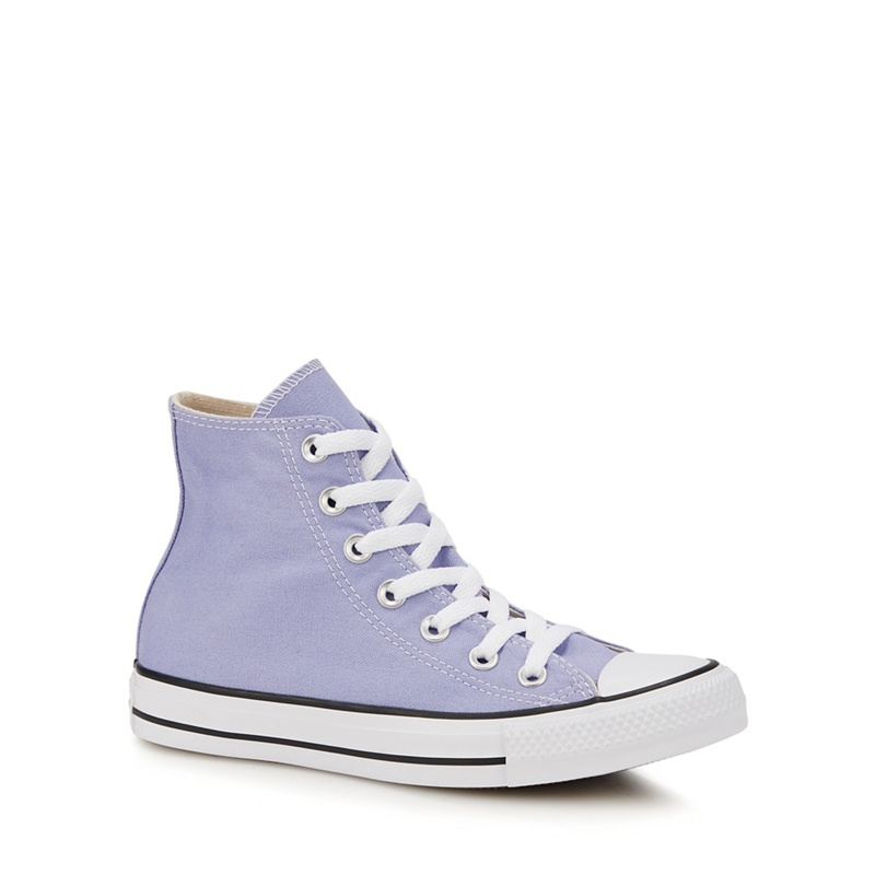 CONVERSE | Converse - Light Purple Canvas 'Chuck Taylor All Star' Hi-Top Trainers | Goxip