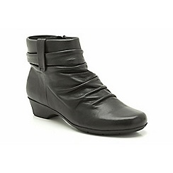 Clarks - Black Leather Matron Ella Slip On Ankle Boot