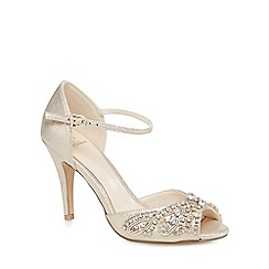 No. 1 Jenny Packham - Gold jewel embellished high sandals