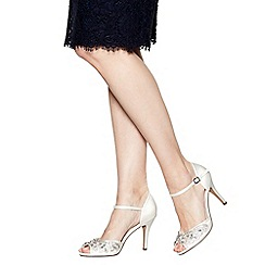 No. 1 Jenny Packham - Ivory 'Paris' stone embellished high sandals
