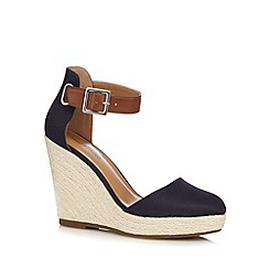Call It Spring - Navy 'Zelini' high wedge sandals