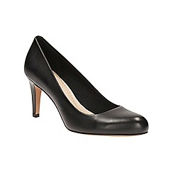 Clarks - Black 'Carlita Cove' high court shoes