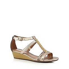 Clarks - Gold metallic 'Playful Fox' strappy sandals