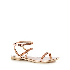 Faith - Rose 'Jaylo' low sandals