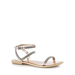 Faith - Silver 'Jaylo' low sandals