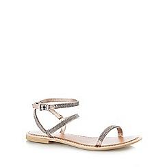 Faith - Silver 'Jaylo' low sandals