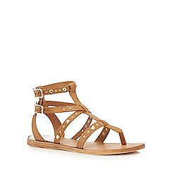 Faith - Tan 'Jupiter' studded sandals