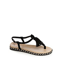 Faith - Black 'Jackie' flat sandals