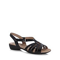 Hotter - Black leather slingback low sandals