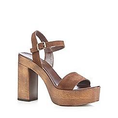 Faith - Tan 'Deli' high platform sandals