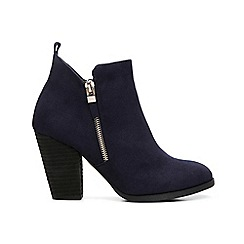 Call It Spring - Navy suedette 'Kokes' high block heel ankle boots