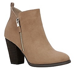 Call It Spring - Beige suedette 'Kokes' high block heel ankle boots