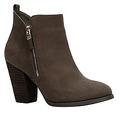 Call It Spring - Khaki suedette 'Kokes' high block heel ankle boots