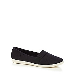 Call It Spring - Black canvas 'Chatam' slip on trainers