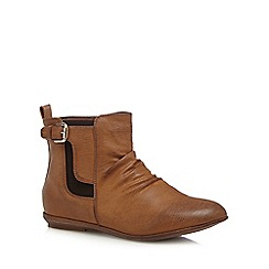 Call It Spring - Brown 'Lusurasco' buckle detail ankle boots