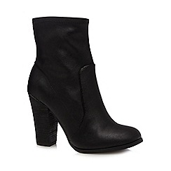 Call It Spring - Black 'Bradford' high block heel ankle boots