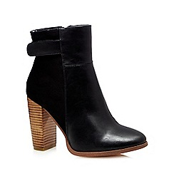 Call It Spring - Black 'Hoawet' stacked block heel boots