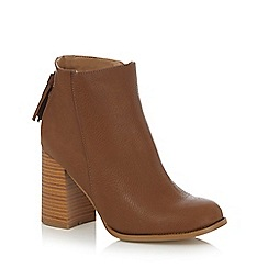 Call It Spring - Brown 'Tralessa' block heel ankle boots