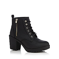 Call It Spring - Black 'Mesien' high ankle boots