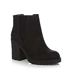 Call It Spring - Dark grey 'Gianuzzi' block heel ankle boots