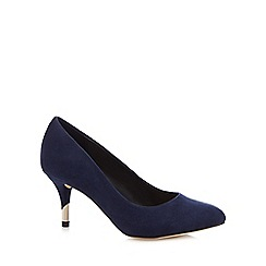 Call It Spring - Blue suedette 'Trescorre' mid stiletto heel court shoes