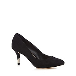 Call It Spring - Black suedette 'Trescorre' mid stiletto heel court shoes
