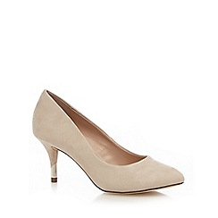 Call It Spring - Natural suedette 'Trescorre' mid stiletto heel court shoes