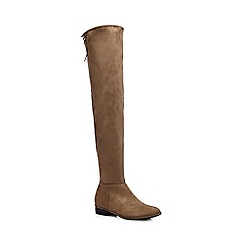 Call It Spring - Taupe 'Legivia' over the knee boots