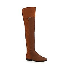 Call It Spring - Tan 'Haaesa' over the knee boots