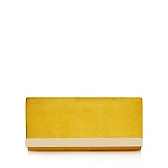 Call It Spring - Yellow 'Doroniel' gold plated clutch bag