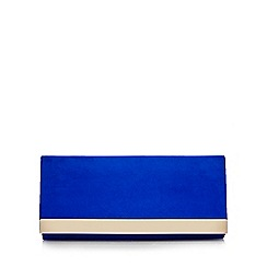 Call It Spring - Blue 'Doroniel' gold plated clutch bag