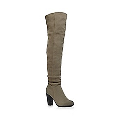 Call It Spring - Light green 'Cannavali' knee length high boots