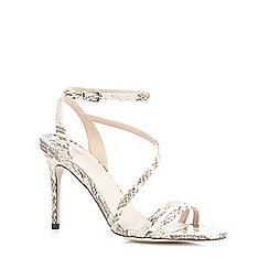 Faith - Grey 'Lucas' snake-effect high sandals