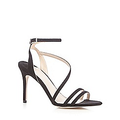 Faith - Black 'Lucas' high stiletto heel ankle strap sandals