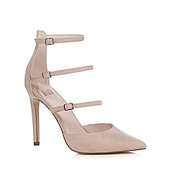 Faith - Light pink suedette 'Cara' high stiletto heel ankle strap sandals