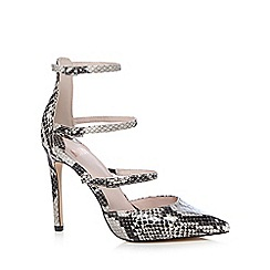 Faith - Snakeskin effect 'Cara' high stiletto heel ankle strap sandals
