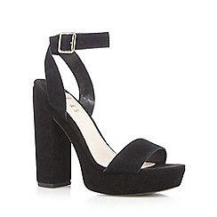 Faith - Black high platform sandals