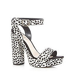 Faith - Multi-coloured animal print high platform sandals