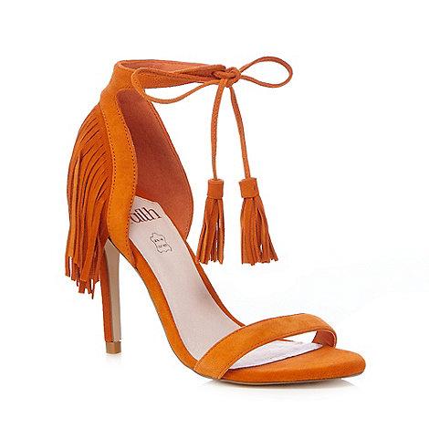 Faith - Orange high sandals