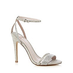 Faith - Silver 'Lexi' stone embellished high sandals