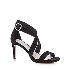 Faith - Black 'Daisy' high crossover sandals