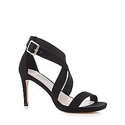 Faith - Black 'Daisy' high crossover sandals