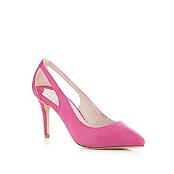Faith - Bright pink 'Caitlin' cut-out court shoes